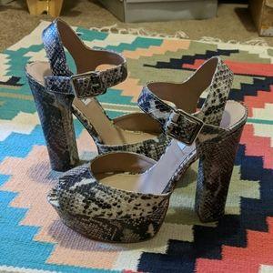 Steve Madden snakeprint heels